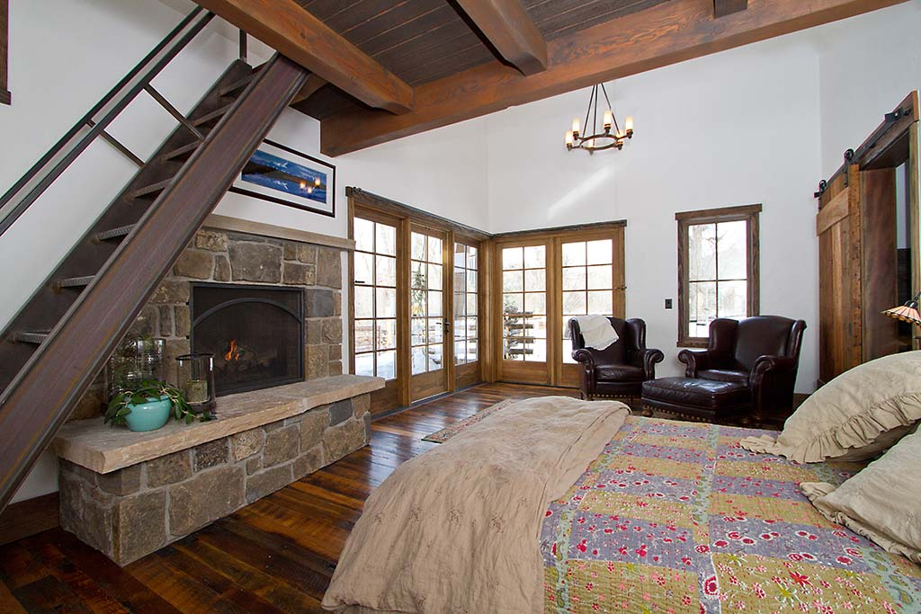 comfortable mountain master bedroom designed by gerber berend design build steamboat springs colorado