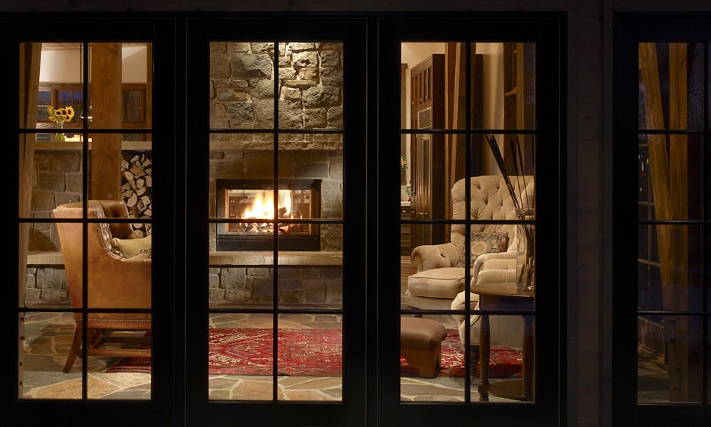 luxury living room fireplace and lounge area custom built by gerber berend