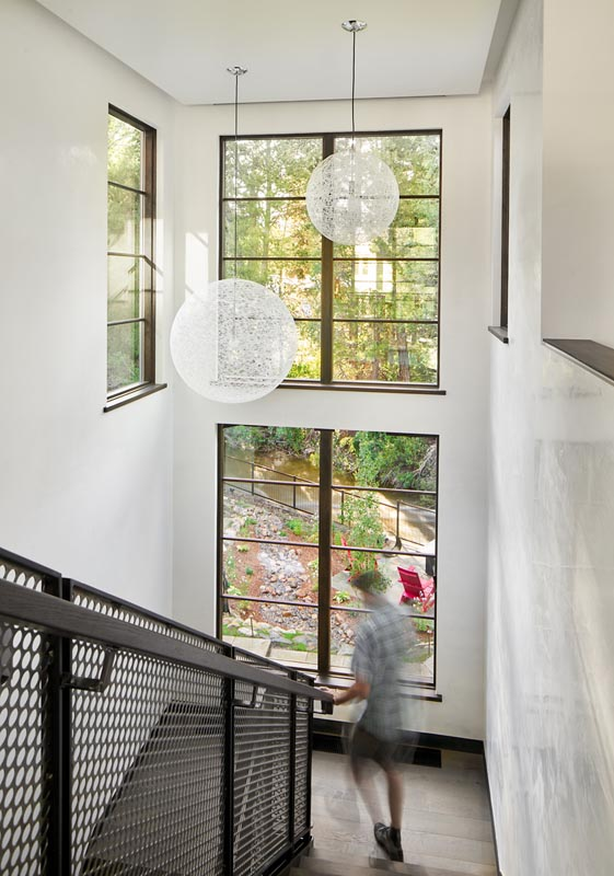 9th street view out stairway windows designed by gerber berend