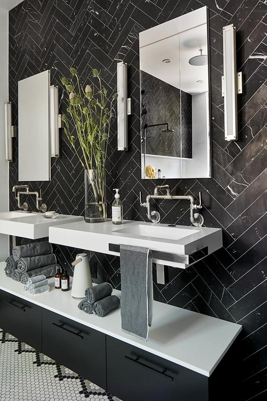 custom sink master bath detail by gerber berend