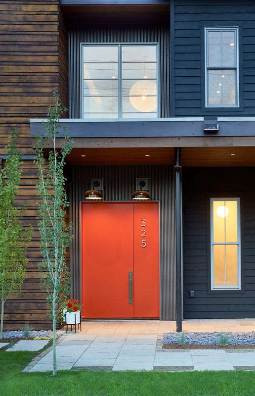Entry to custom luxury home in steamboat springs by gerber berend builds