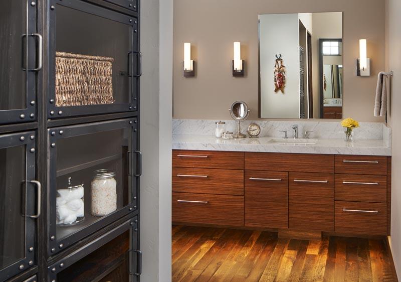 industrial cabinet bathroom gerber berend design build