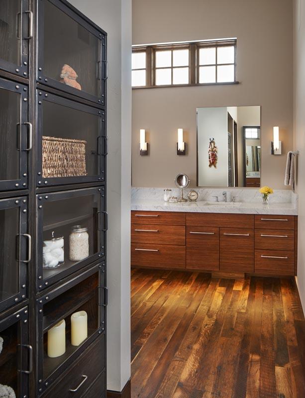 industrial cabinets in custom bathroom by gerber berend design build