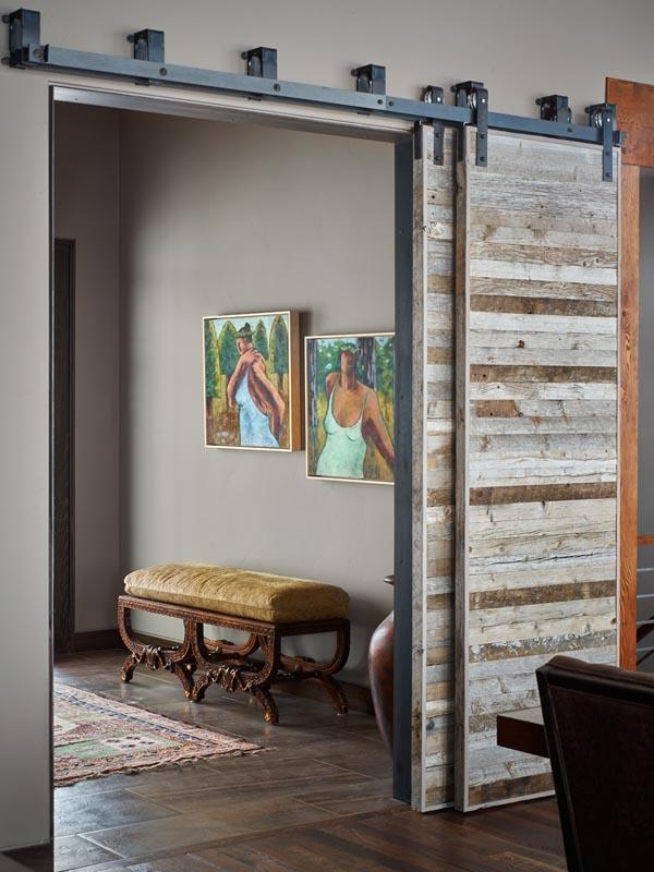 custom sliding doors and artwork luxury custom home steamboat springs colorado