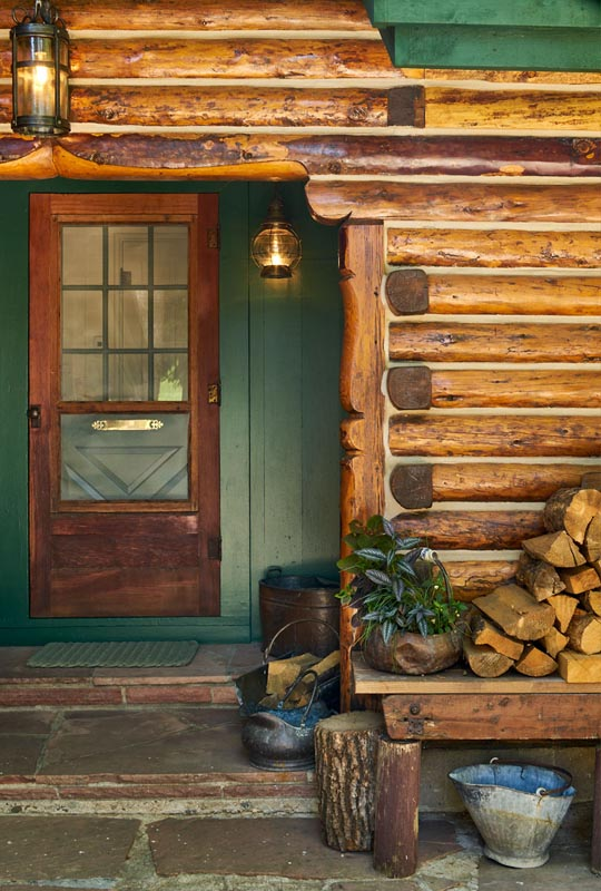 front door of downtown hideaway for old town steamboat by gerber berend design build