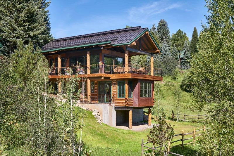 downtown steamboat log home gerber berend design build