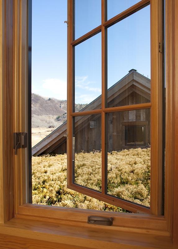 window of custom designed home by gerber berend