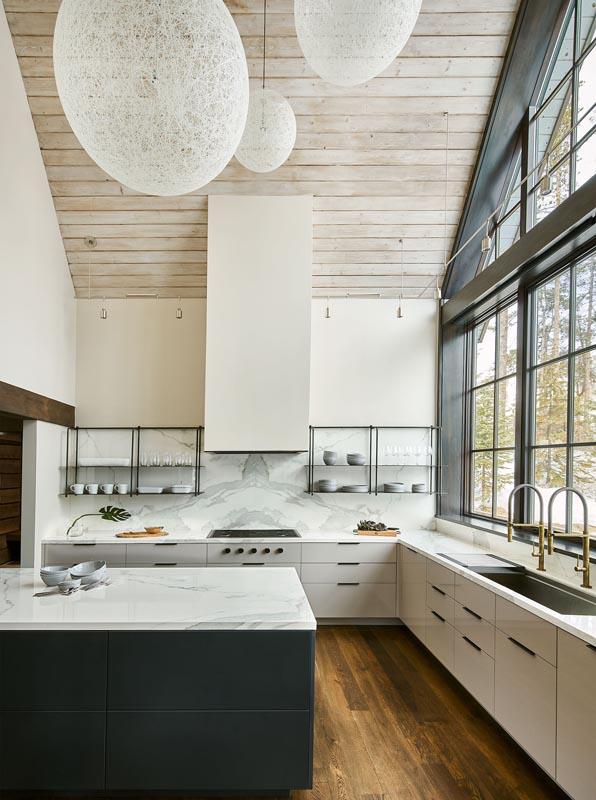 gerber berend design build luxury custom home interior kitchen in steamboat springs Colorado