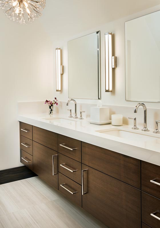stark white modern bathroom design