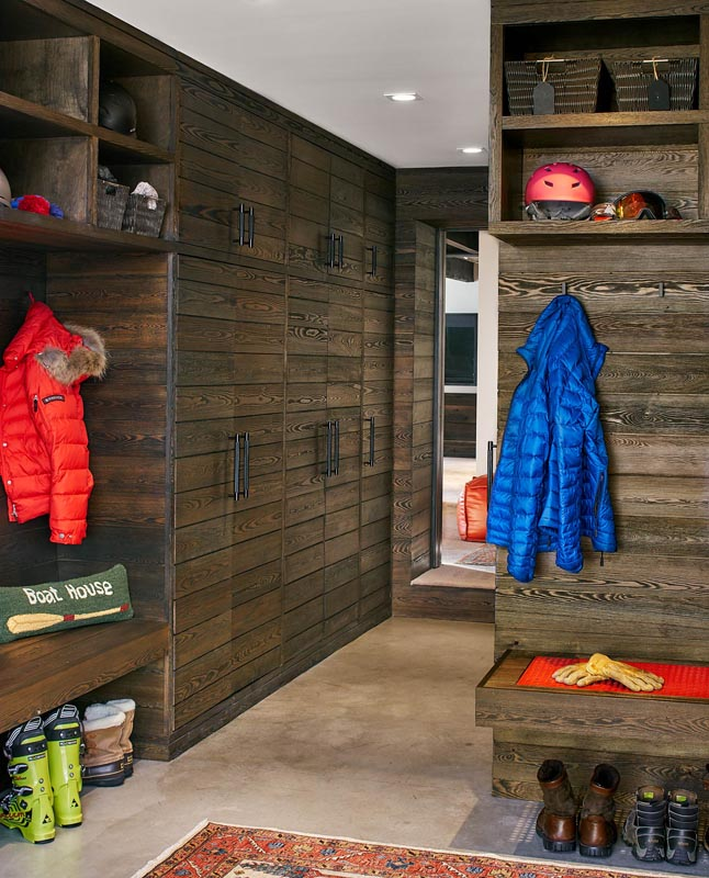 ski lockers and mudroom luxury custom home mountain style steamboat springs colorado