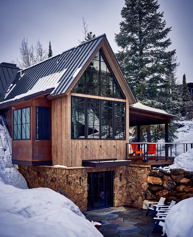 exterior of luxury mountain home custom design build gerber berend steamboat springs colorado