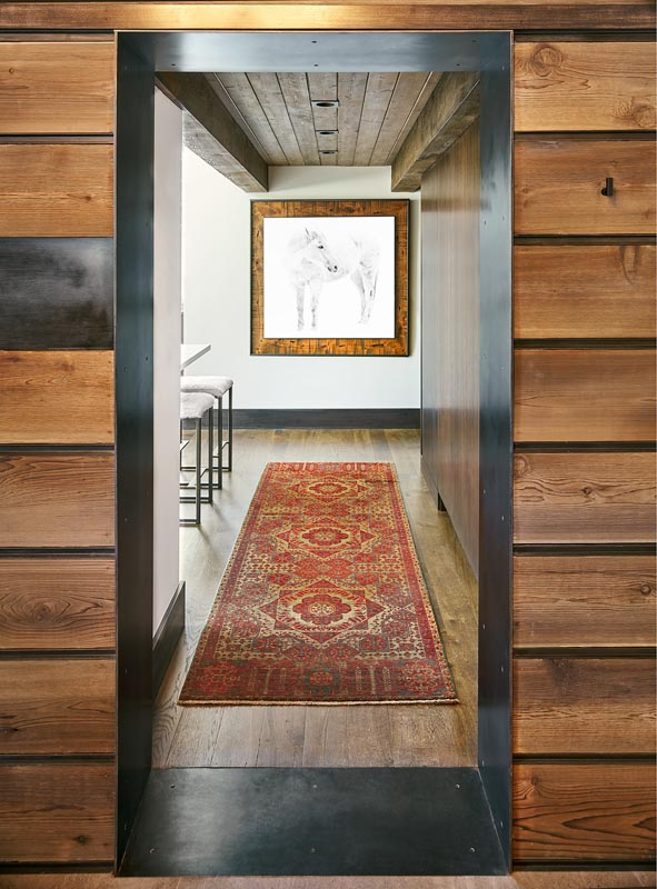 hallway designed by gerber berend design build steamboat