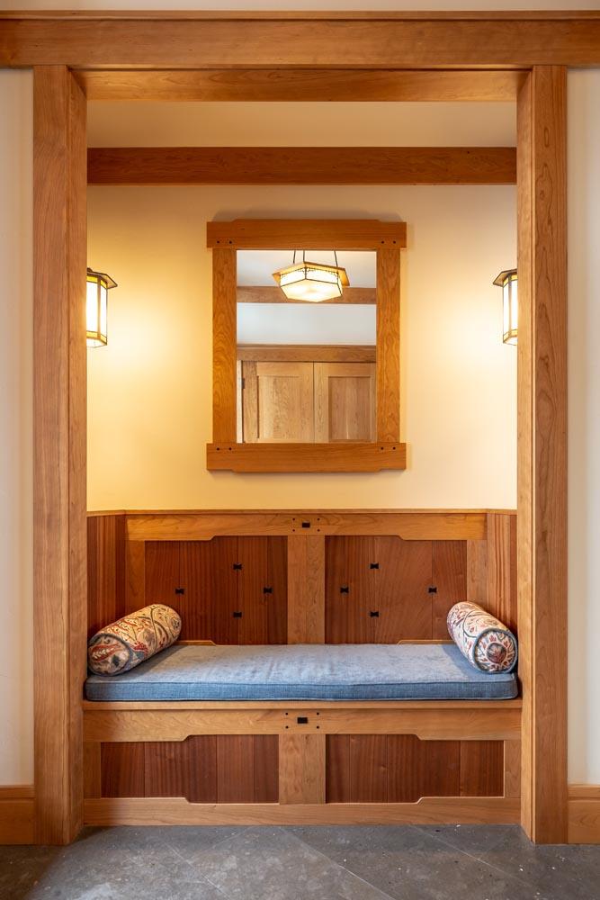 custom luxury home wood detailing