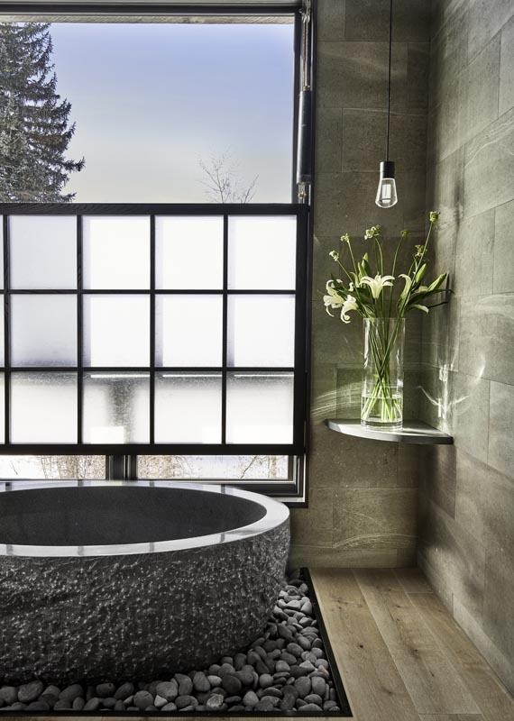 tub design with natural light designed by gerber berend design build