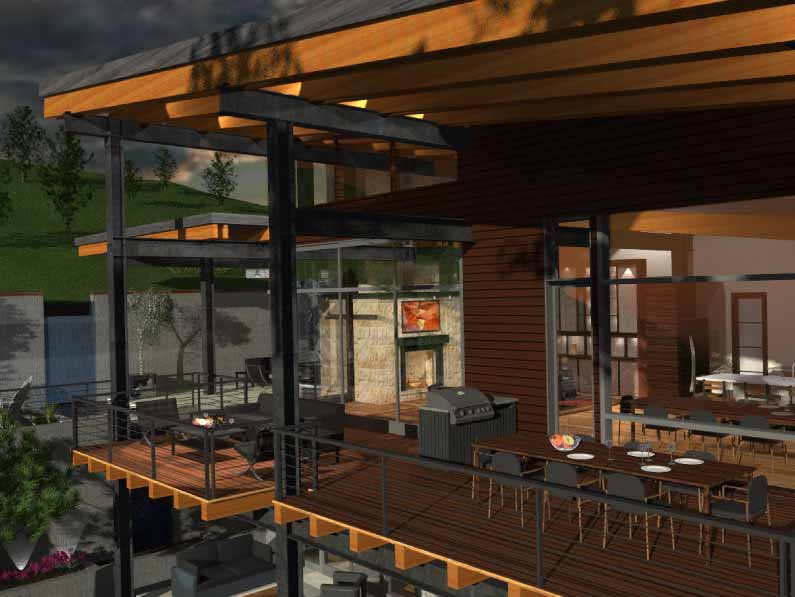 upper deck design rendered by gerber berend design build steamboat springs colorado