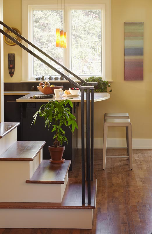 gerber berend design build renovation of old town interior stairway and kitchen counter