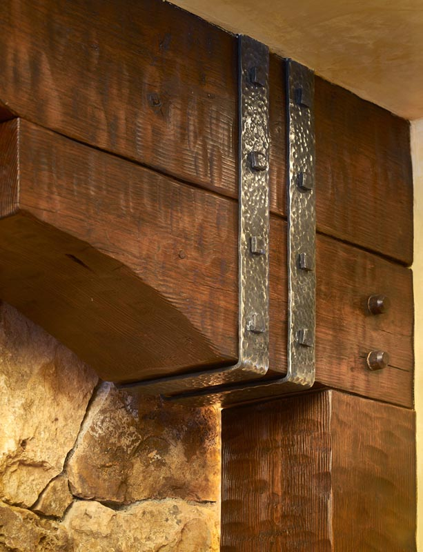 Gerber berend design build beam detail of wine room renovation