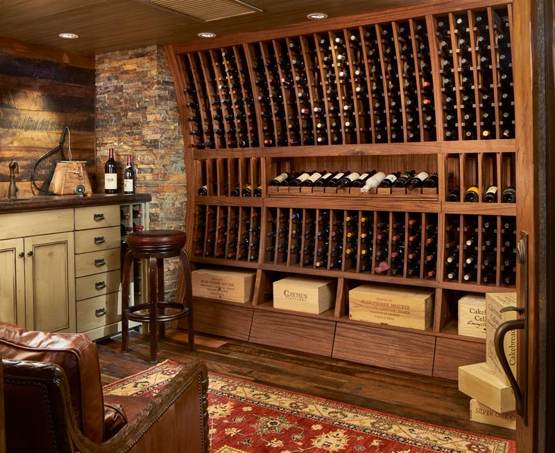 custom wine cellar by gerber berend design build steamboat springs colorado