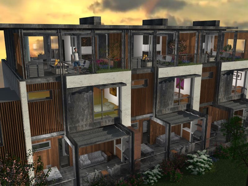 pearl street apartment complex render