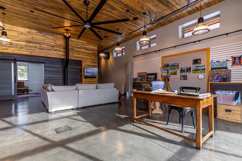 garage renovation becomes art gallery