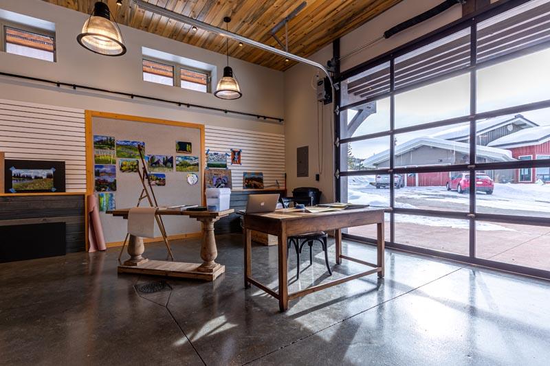 garage becomes art gallery renovated by gerber berend